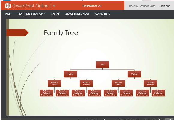 Family Tree Chart Maker Template For PowerPoint Online - free online family tree template