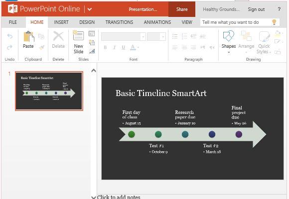 Timeline SmartArt Diagram Template For PowerPoint Online - sample timeline