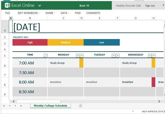 How To Easily Create Class Schedules Using Excel - class template
