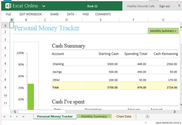 using excel to track expenses