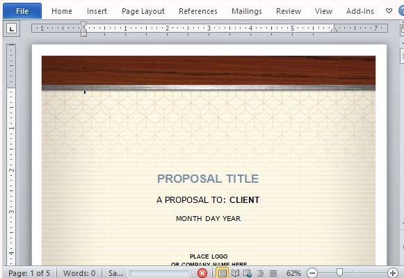 Health Care Proposal Template For Word