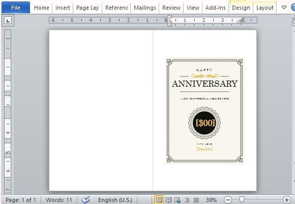How To Create A Printable Anniversary Gift Certificate - create your own gift certificate template free