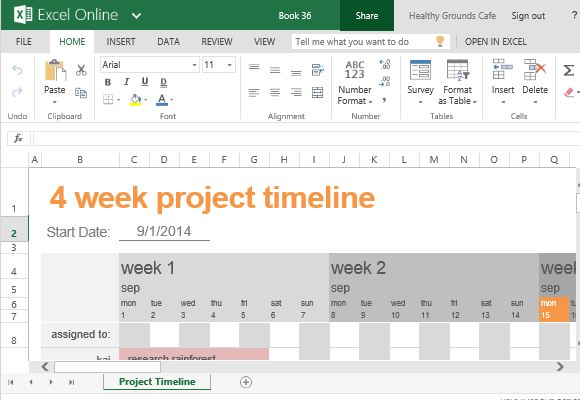 Free Project Timeline Template For Excel - template timeline excel