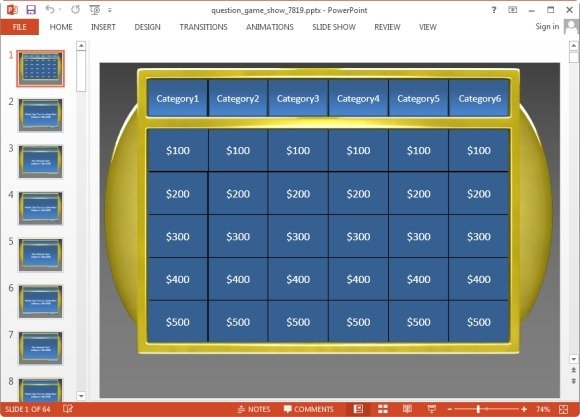 Animated Jeopardy PowerPoint Templates - jeopardy powerpoint template