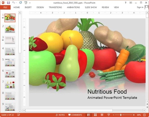 Animated Nutrition PowerPoint Templates