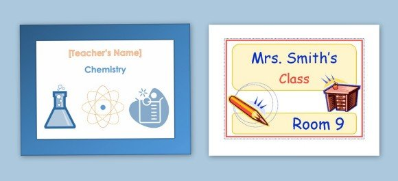 Printable Classroom Sign Maker Templates For Word