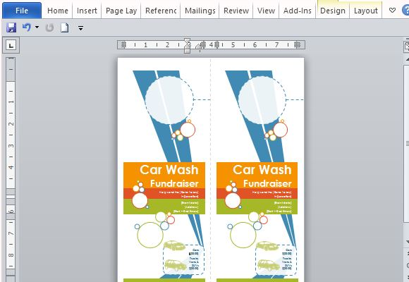 Door Hanger Flyers Template For Word - door hanger design template