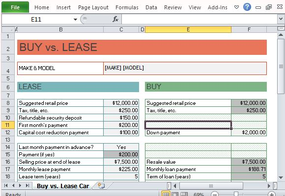 should i buy or lease a car calculator - Selol-ink - auto leasing vs buying calculator