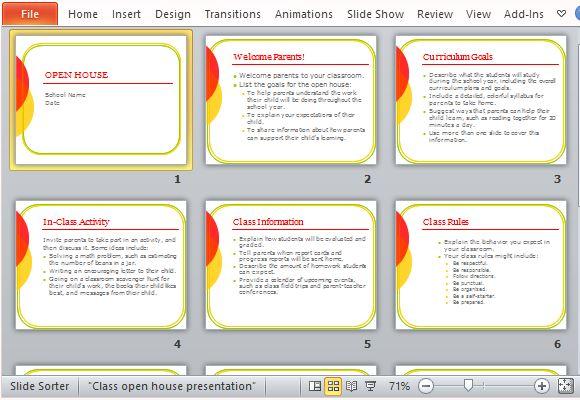 Classroom Open House PowerPoint Template