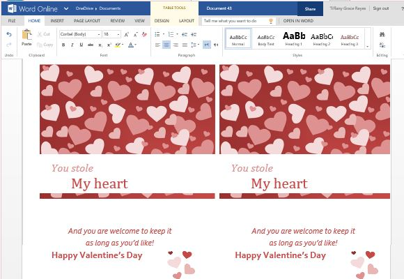 Valentine Cards Maker Template For Word Online - free greeting cards templates for word