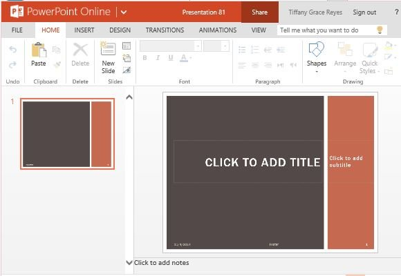Earth Tone Grid PowerPoint Template - FPPT