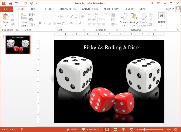 Awesome 3D Dice Rolled Shapes for PowerPoint Presentations