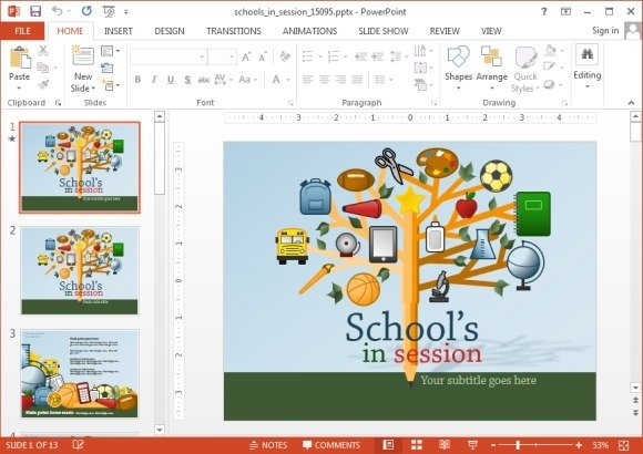 Animated School PowerPoint Templates