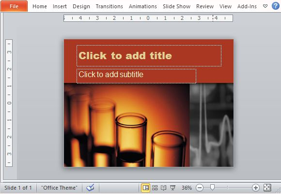 Free Test Tube PowerPoint Template