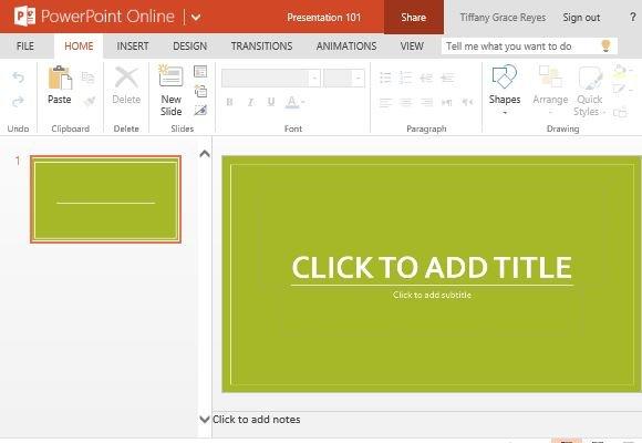 Widescreen Basis PowerPoint Template