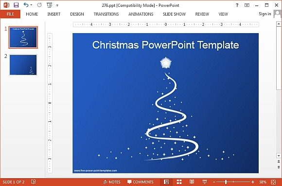 Animated Christmas PowerPoint Templates - christmas powerpoint template