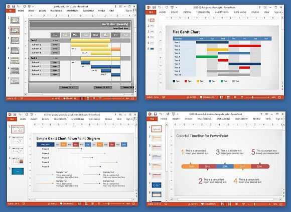 Animated Gantt Chart PowerPoint Templates - project milestone template ppt