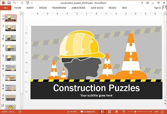 Best Animated Construction PowerPoint Templates