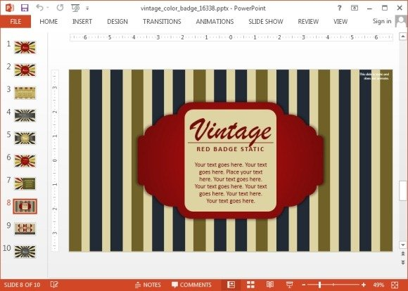 Vintage-badge-for-PowerPointjpg - FPPT