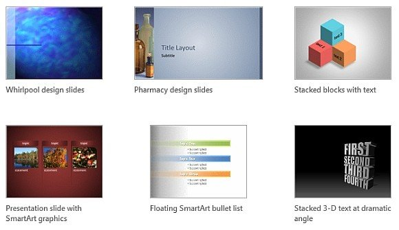microsoft office template gallery