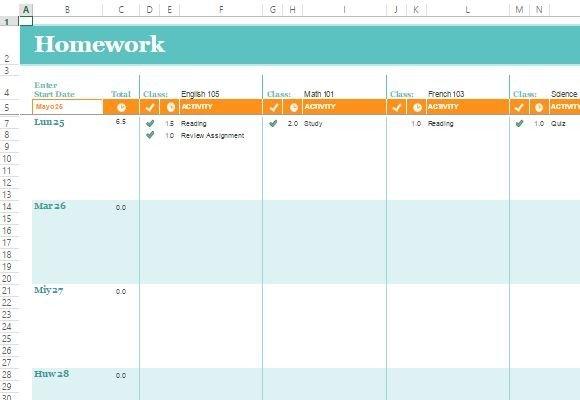 free college schedule planner