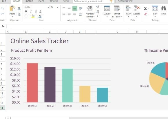 Online Sales Tracker Template For Excel Online