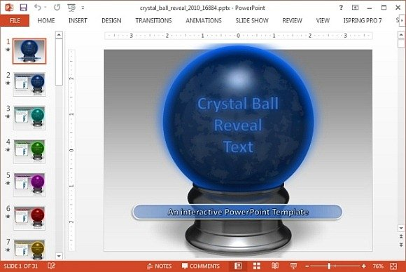 Animated Crystal Ball PowerPoint Template - interactive powerpoint template