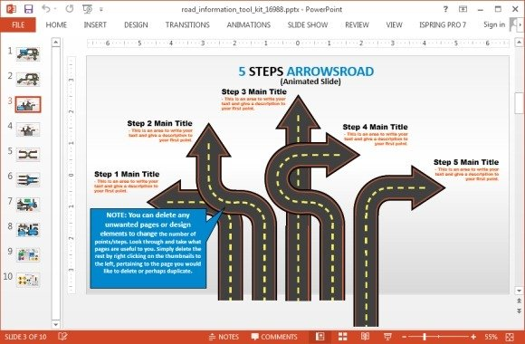 Roadmap-template-for-PowrPoint-2013jpg - FPPT