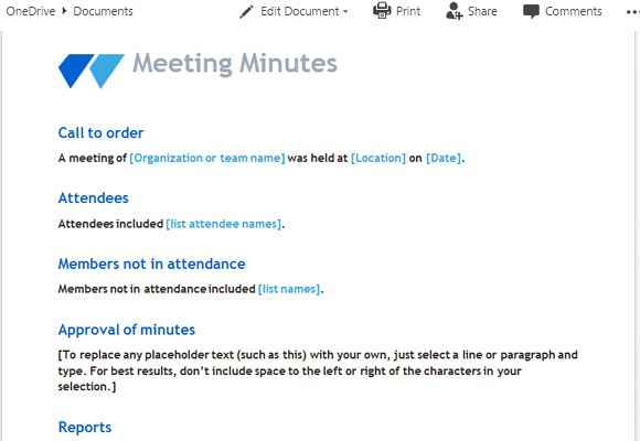 meeting-minutes-template-with-clean-and-modern-look - FPPT