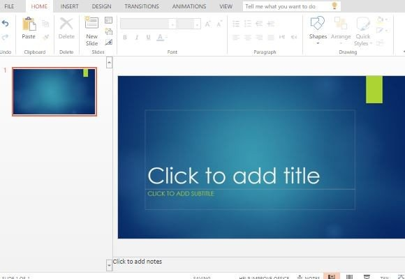 Ion Blue PowerPoint Template - ion powerpoint theme