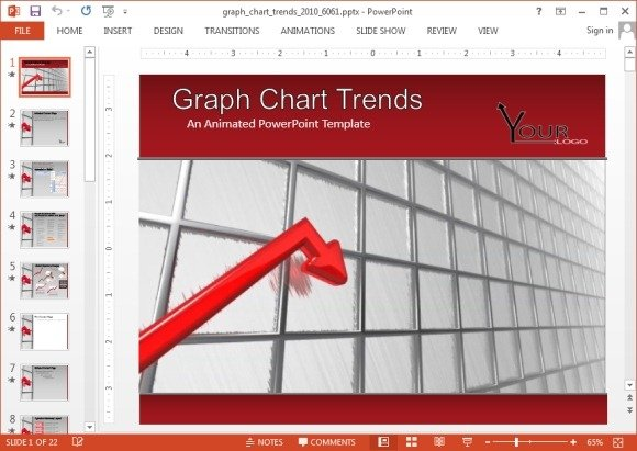 Animated PowerPoint Charts Template - graph chart templates