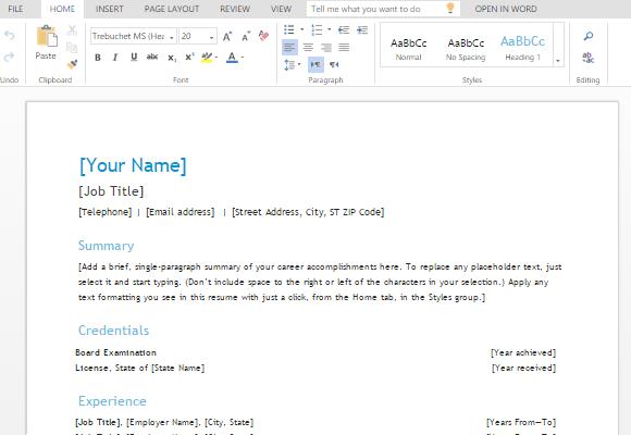 registered nurse resume templates word