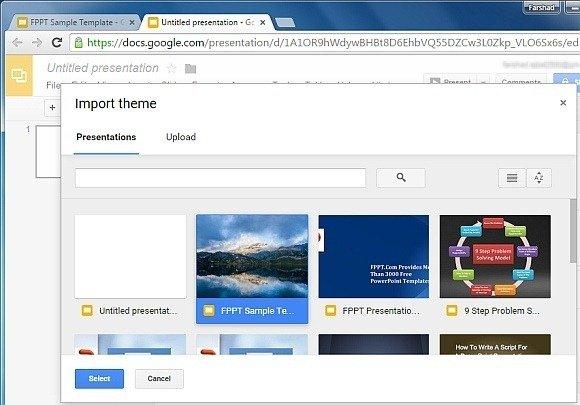 How To Import Theme  Slides in Google Slides - google slides themes to import