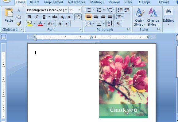 Thank You Card Templates For Word - card templates for word