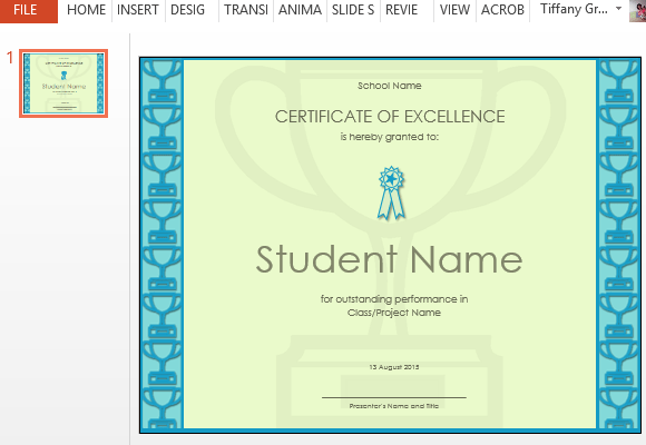 powerpoint template certificate