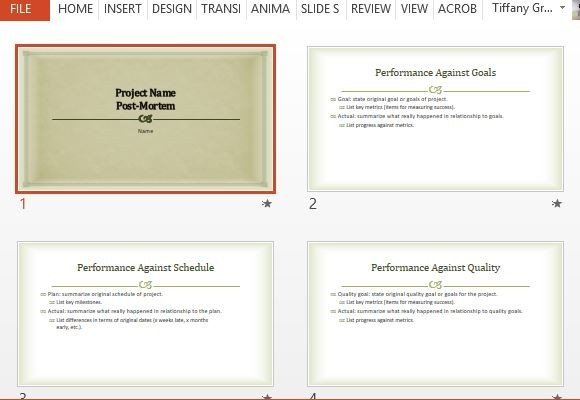 Project Post Mortem PowerPoint Template