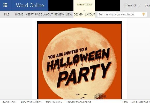 Halloween Flyer Word Template