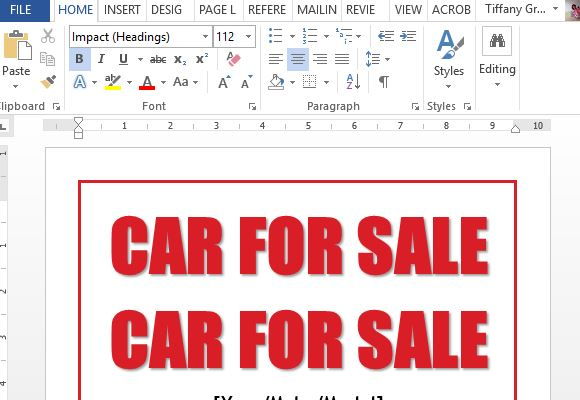 easy-to-use-car-for-sale-sign-template-for-word - FPPT