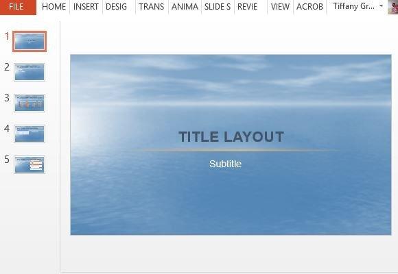Beautiful Ocean PowerPoint Template