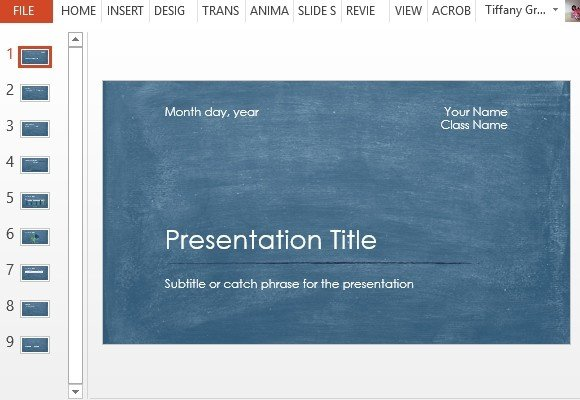 Student Scientific Report PowerPoint Template - scientific templates