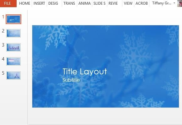 Snowflakes Christmas PowerPoint Template - christmas powerpoint template