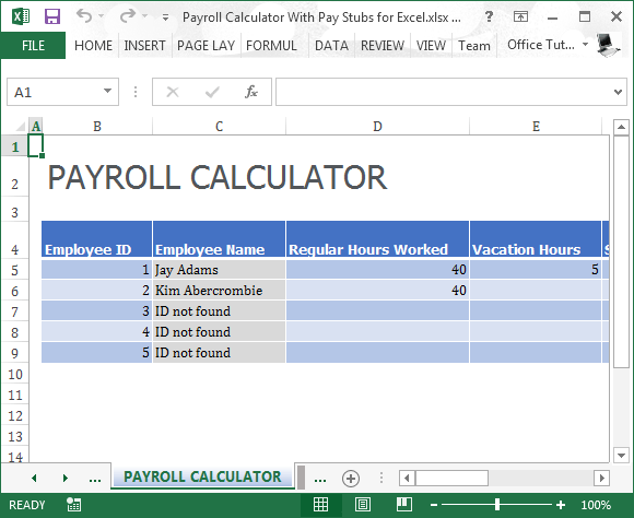payroll calculator pay stub
