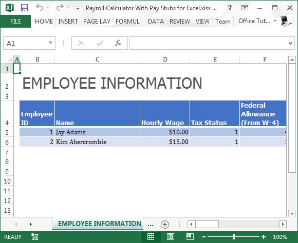 free payroll hours calculator
