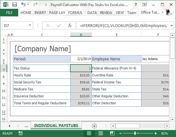 pay stub taxes calculator