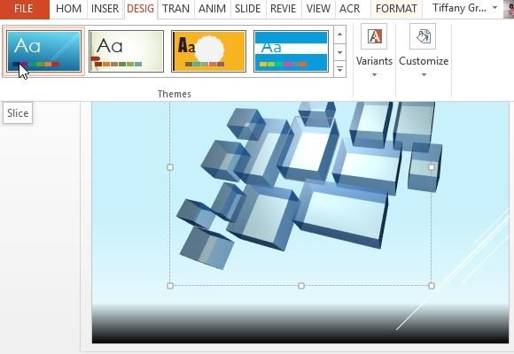 Free Floating 3D Transparent Rectangles For PowerPoint