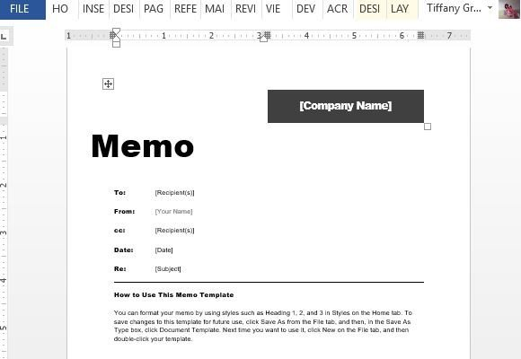 Interoffice Memo Template For Word - memo sample in word