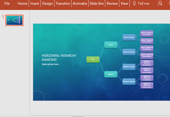 how to create a family tree in powerpoint