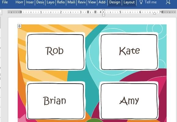 Free Name Badge Template For Word