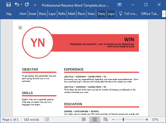it manager resume word template