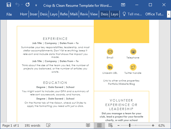 how to create a resume template in microsoft word